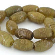 JADE GEMSTONES BEADS - JADE TUBE  ANTIQUE 17X11MM